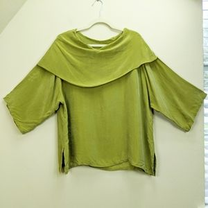 CTC Carol Turner Collection XL Top Green Popover